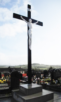 Cross in St. Eunan's Cemetery, Raphoe.